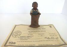 "All God'S Children 4.75"" Beth Girl In Sack Figurine W/ Coa & Box"
