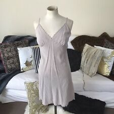 The White Company Grey Silk Slip Dress Size Medium