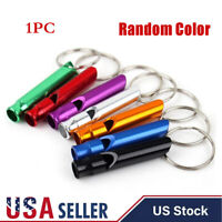 1/5/10pcs Mini Survival Emergency Whistles Keychain Camping Hiking Outdoor Tools