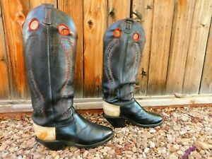 Olathe Tall Buckaroo Bronc Riding Cowboy Boots 10.5D Really Cool Boots