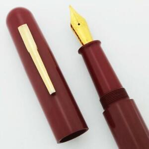 Ranga 4C Ebonite Fountain Pen - Smooth Red, Hand Made, JoWo #6 Nib C/C (New)