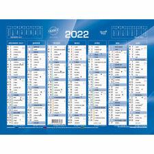 Calendrier de banque 2022 - 18 x 13.5 cm - Quo Vadis - Bleu