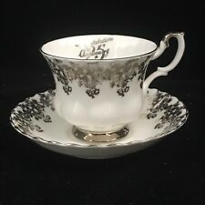 Vintage Collectible Royal Albert 25th Anniversary Porcelain Teacup and Saucer