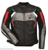 DUCATI Dainese CORSE C3 Lederjacke Jacke Leather Jacket perf. schwarz grau NEU