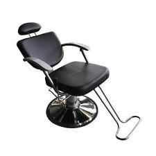 Black Fashion All Purpose Hydraulic Reclining Barber Salon Chairs Shampoo Spa 3W