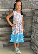 NEW Kid Flower Girl Unicorn Cosplay Pageant Party Dress Light Orange SZ 4-8 Z37