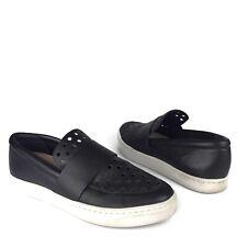 Loeffler Randall Loafers Irini Black Leather Flats Slip On Sneakers Size 9 B