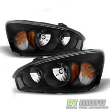 Blk 2004 2005 2006 2007 2008 Chevy Malibu Headlights Headlamps 04-08 Left+Right