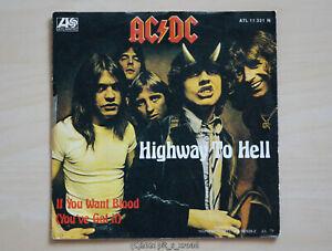 """7"""" Vinyl - Single """"Highway To Hell"""" von AC/DC (Juli 1979)"""