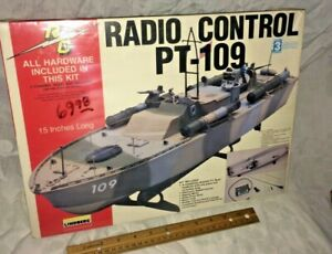 Lindberg PT 109 Motorized radio control adaptable Plastic Model NOS FREE SHIP