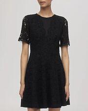Lace Mini Dresses Short Sleeve
