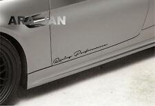 Racing Performance Decal Sticker sport car door emblem logo turbo motorsport
