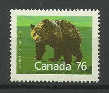 Canada 1988 Sg 1275, 76c Brown bear perf 14.5 X 14, Unmounted Mint. [552]