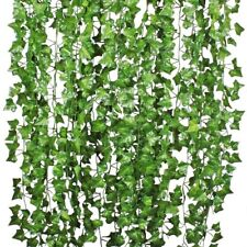 Pianta Artificiale Edera Rampicante Ghirlanda, 12 pezzi da 2,1mt l'uno
