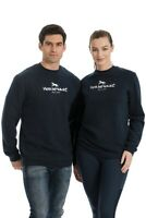 Horseware Unisex Ladies/Mens Cotton Crew Sweatshirt Sweater Jumper Navy XXS-XXL