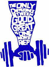 The difference between good and great,Fitness,Gym,Exercise,Wellness,Vinyl Decal