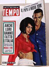 TEMPO - ANNO XXVII N.41 - 13 OTTOBRE 1965 - rivista, il papa a nuova york -