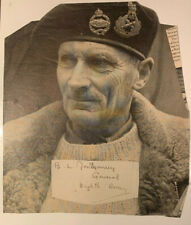 Original WW2 Autograph and Photo of Bernard Law Montgomery, General, Eighth Army