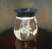 Mirror Crackle Electric Wax Warmer/Burner & 10 Handpoured Scented Melts (3085)