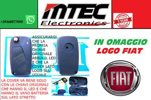 Schale Schlüssel Fernbedienung Logo 3 Buttons für Fiat Panda Ducato Punto Bravo