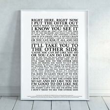 The Other Side (The Greatest Showman) Song Lyrics Print Poster (Unframed)