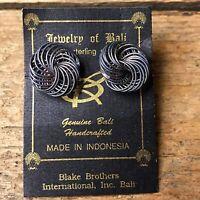 Jewelry of Bali - Swirl Wire Earrings - 925 sterling silver