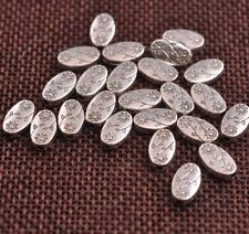 20/50/100Pcs Tibetan silver oval flowers Charm Spacer beads Jewelry  JK3101