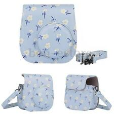 Floral PU Leather Case Cover Shoulder Bag For Camera Fujifilm Fuji Instax Mini 8