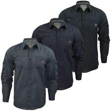 Camicie casual da uomo nero a righe