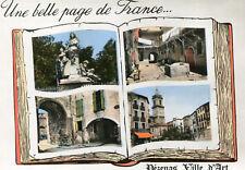 Carte PEZENAS Une belle Page de France Façon livre ouvert