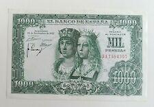 Billete España 1000 Pesetas 29 Noviembre 1957 Reyes Católicos PLANCHA S.C
