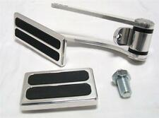 Polished Street Rat Rod Throttle Gas Pedal w/ Brake & Dimmer Rubber Pad 3 piece