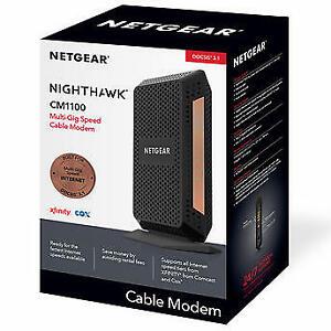 Netgear Nighthawk CM1100 DOCSIS 3.1 Cable Modem Works Xfinity, Cox, Spectrum NEW