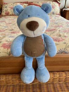 "BHS BLUE BEAR SOFT TOY TEDDY COMFORTER DOUDOU 13"""