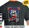 Biker Route 66 American Motorcycle Chopper Mens Short Or Long Sleeve T Shirt