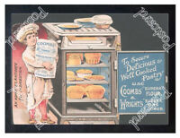 Historic Coombs-Wrights Pastry flour, 1890s Advertising Postcard
