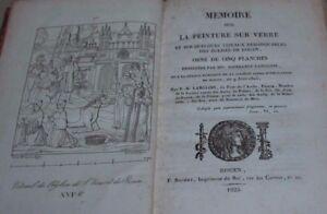 Langlois / Mémoire sur la peinture sur verre...des églises de rouen (5 planches)