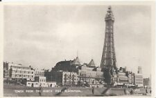 Postcard - Tower from the North Pier Blackpool Lancashire