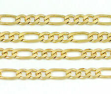 """10k Yellow Gold Figaro Chain Necklace 24""""(new,8.16g)#2475e"""
