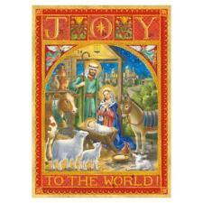 Caspari Advent Calendar Greeting Card, Joy to the World (ADV273C)