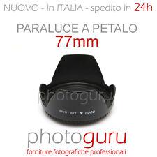 Paraluce a petalo 77mm universale per Canon Nikon Sigma Sony Tamron Pentax 77 mm