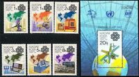 HUNGARY 1983 COMMUNICATION YEAR/ UIT-ITU-UPU + S/S SPACE GLOBE MNH