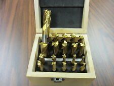 "20pcs/set Tin Coated End Mill Set,2&4 Flute,S/E,HSS,3/16 thru 3/4"" #1001-755-New"