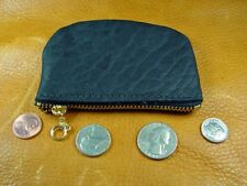 Black Bison Buffalo Leather coinpurse pouch hand crafted disabled vet 5017