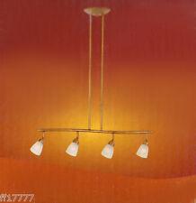 4 Head Halogen Ceiling Suspended Adjustable Track Light Kit Bar Antique Brass