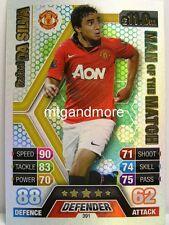 Match Attax 2013/14 Premier League - #391 Rafael Da Silva - Man of the Match