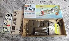 Vintage Monogram 1/48 1/4 inch P-47D Thunderbolt Model Kit #PA187-150 1967