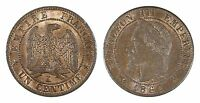FRANCE 1 CENTIME 1862-K (CHOICE UNC) *PREMIUM QUALITY*