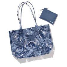 Brand New Victoria's Secret Pink Blue Tote Bag Plus Pouch/Purse