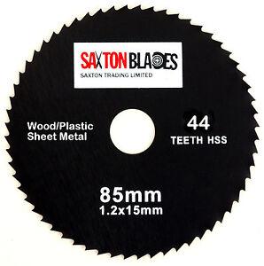 Saxton 85mm x 44T HSS Circular Saw Blade for Worx Worxsaw Bosch Makita Ryobi etc